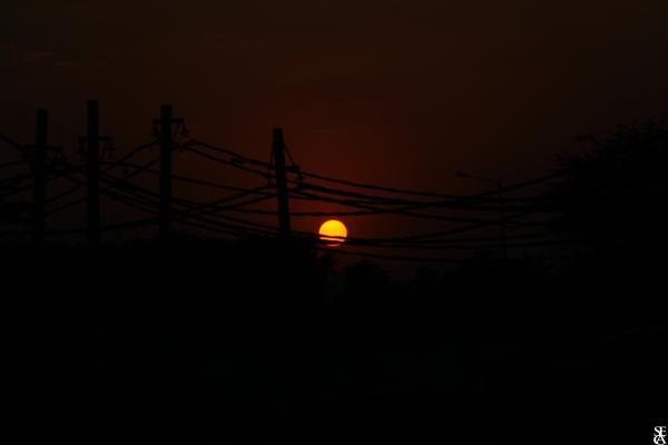Premier coucher de soleil en Inde