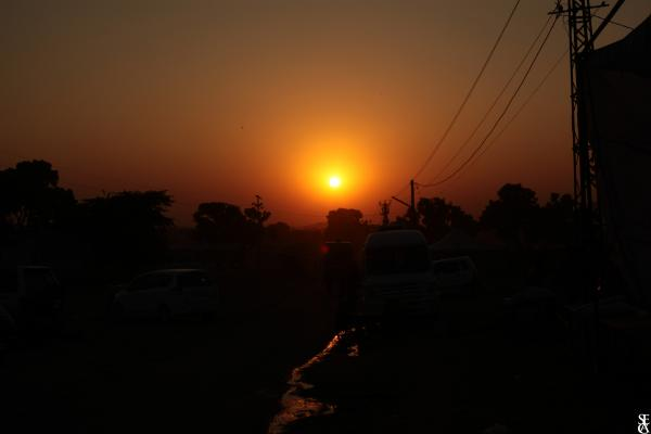 Coucher de Soleil à Pushkar
