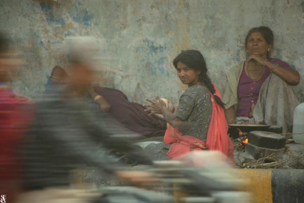 La rue est pauvre mais vivante